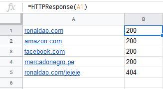Check URLs Google Sheets