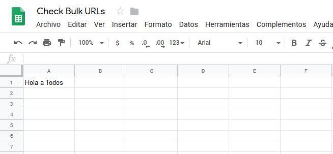 Nueva hoja en Google Sheets