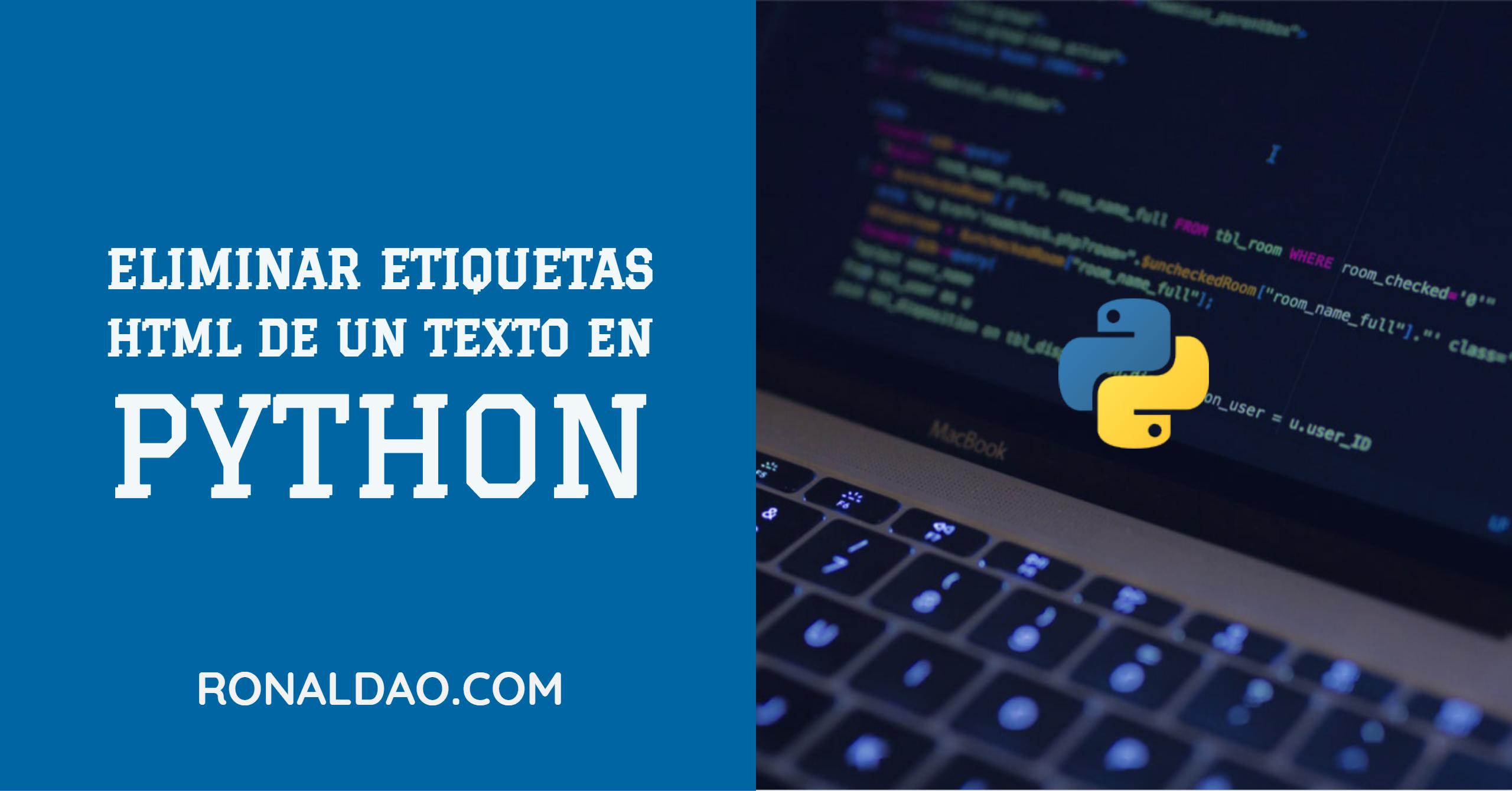 Eliminar etiquetas HTML de un Texto en Python