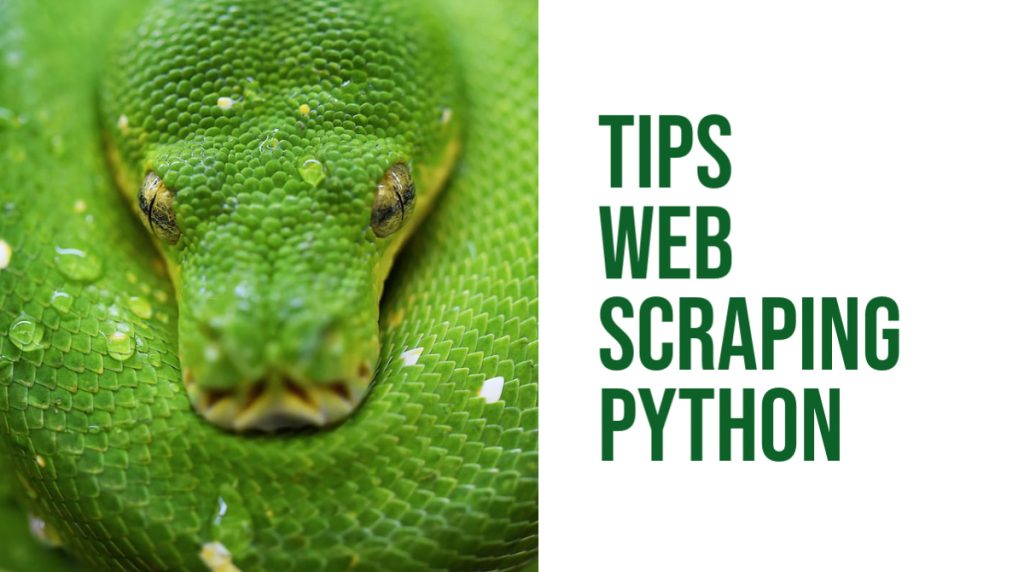 Tips web scraping python